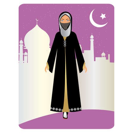 niqab: woman dressed in traditional attire