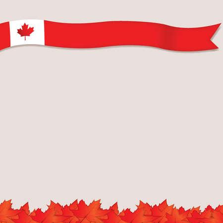 カナダの国旗のテンプレート デザイン