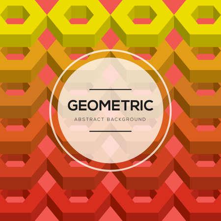 Geometric background design Illustration