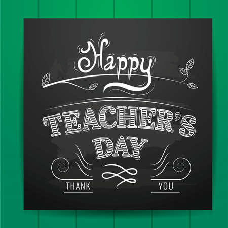 happy teacher's day design Illustration