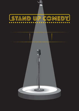 Stand up comedy poster design Иллюстрация