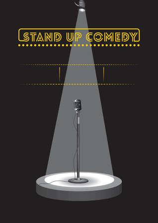 Stand up comedy poster design Illustration