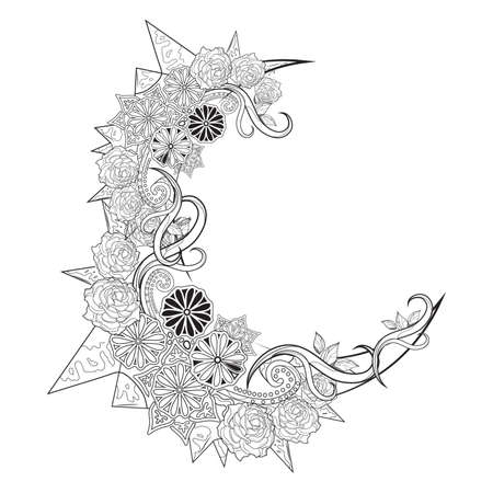 Crescent design Illustration