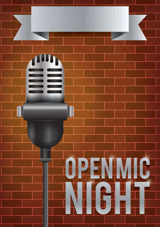 Open mic night poster design