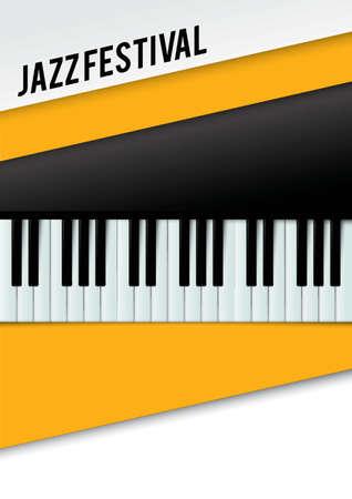 function key: Jazz festival poster design