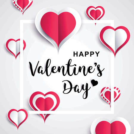 folded paper: Happy valentines day greeting