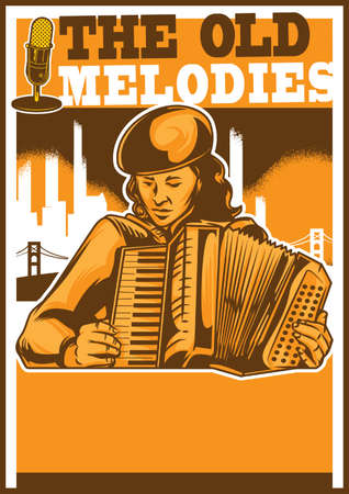 The old melodies poster design Illustration