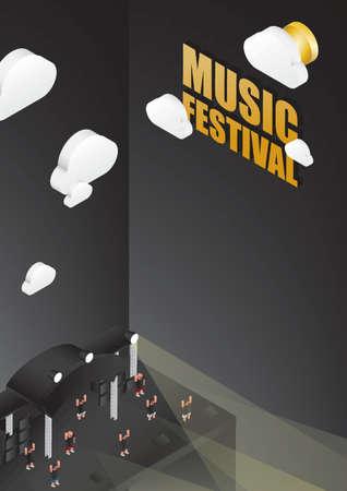 Music festival poster design Illustration