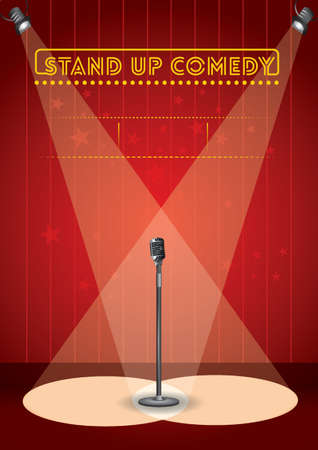 Stand up comedy poster design Vectores