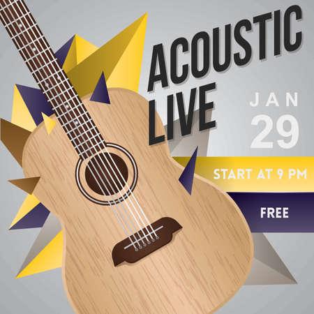 Acoustic live poster design.