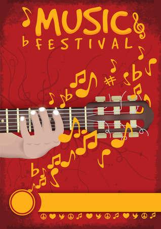 semiquaver: Music festival poster design Illustration