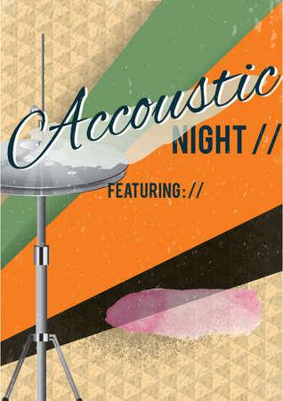 Acoustic night poster design Illustration