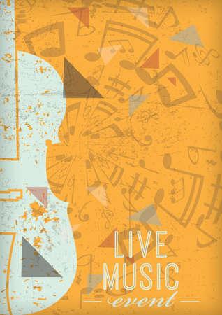 function key: Live music poster design