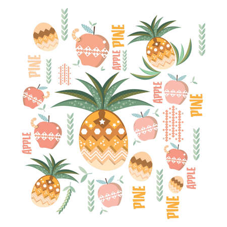 apple and pineapple design