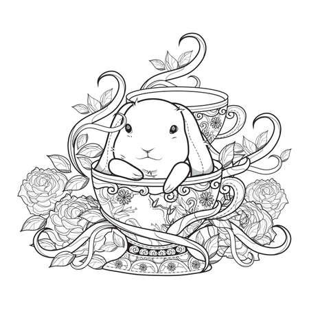 Easter bunny design. Illustration