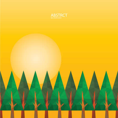 trees and sun background design