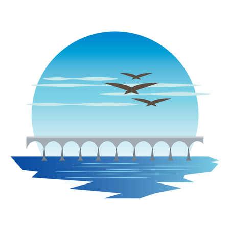 confederation bridge Illustration