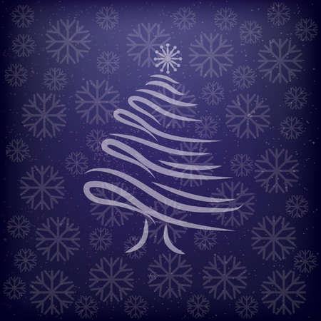 christmas tree background design Illustration