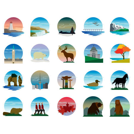 Set di icone canada