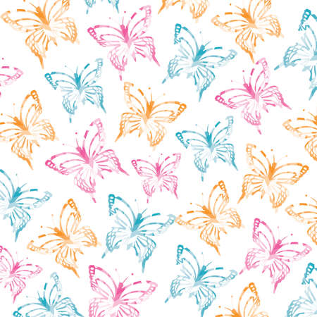 butterfly papercut background design Illustration