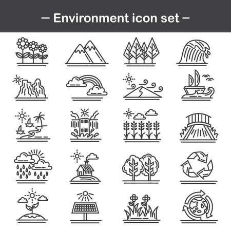 recycling campaign: set of environment icons Illustration