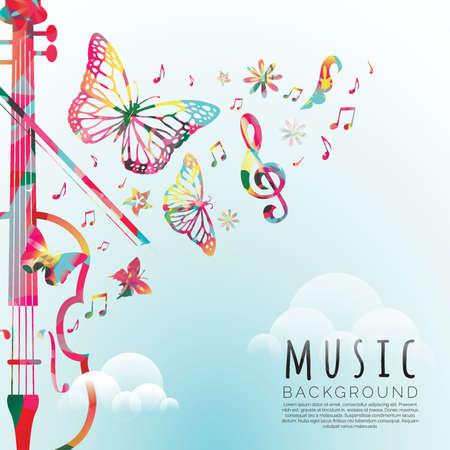음악 배경 디자인 일러스트