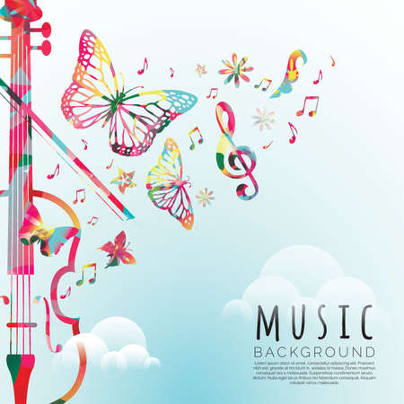 music background design Illustration