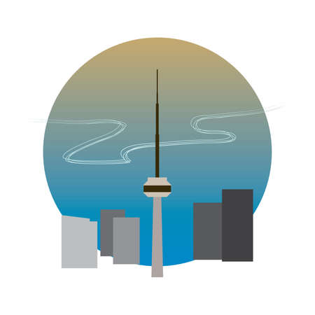 the cn tower Illustration