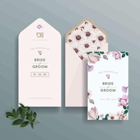 Conception d'invitation de mariage Banque d'images - 73755168