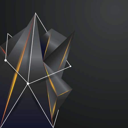 geometry background design Illustration