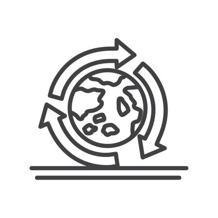 environmental awareness: recycle earth symbol Illustration