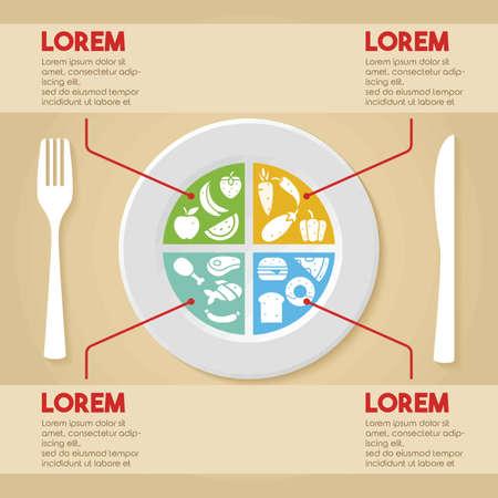 healthy food design Illustration