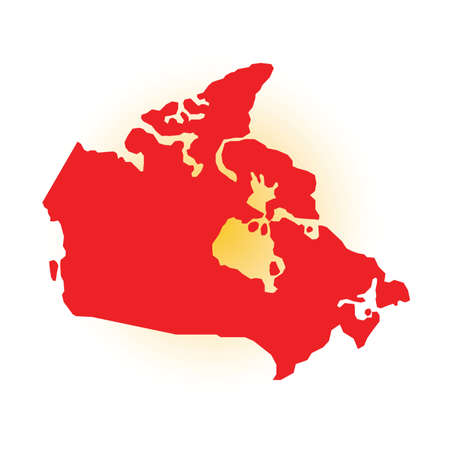 map of canada Illustration