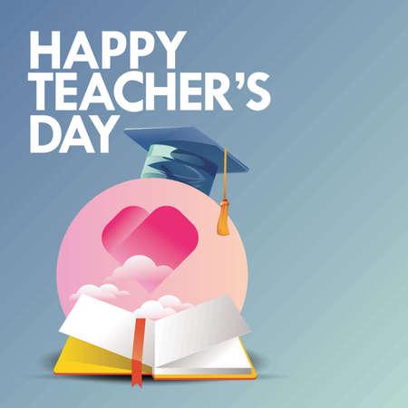 educator: Happy teachers day design Illustration