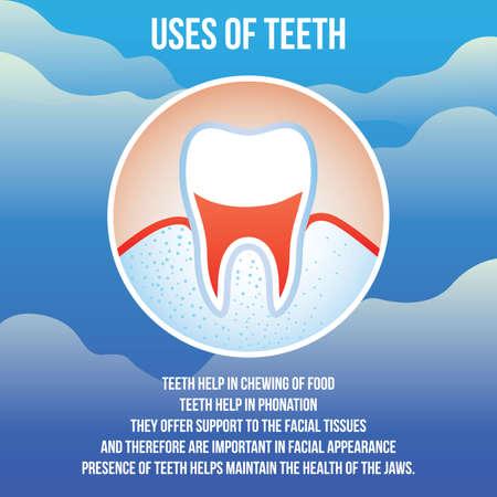 Uses of teeth design
