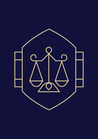 impartiality: scales of justice design Illustration
