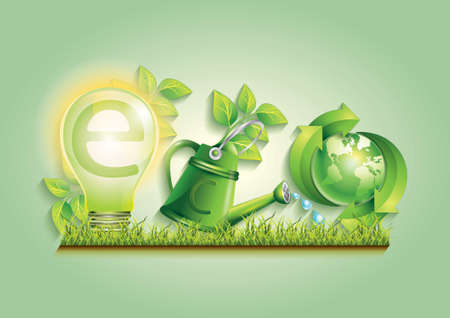 eco friendly typography concept