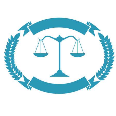 law firm badge design Illustration
