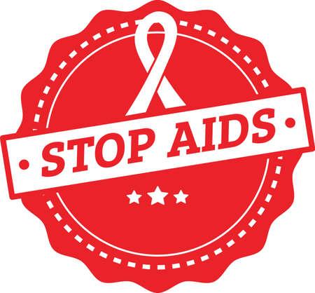 stop aids design Illustration