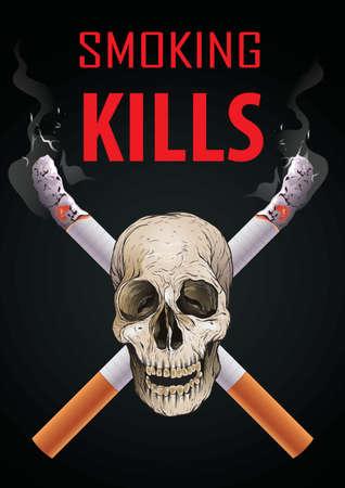 Rauchen tötet Posterdesign Vektorgrafik