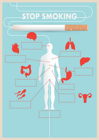 Stop smoking design Illustration