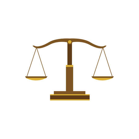 impartiality: Justice scales Illustration