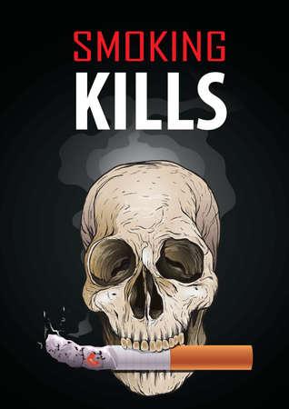El fumar mata el diseño del cartel