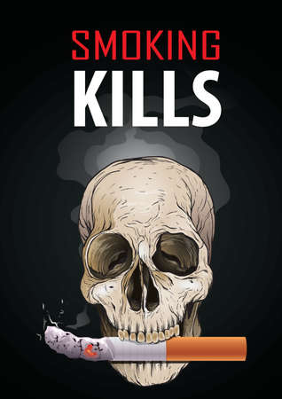 smoking kills poster design