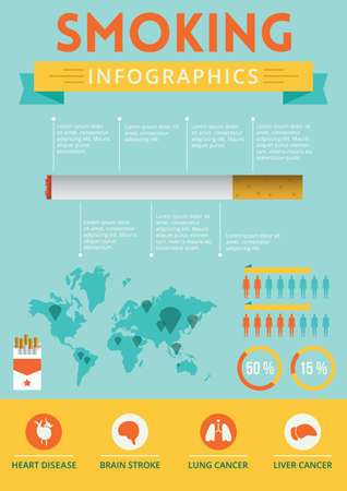 Smoking infographic design