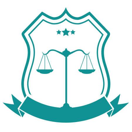 Law firm badge design Çizim