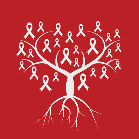 aids awareness ribbon: world aids day design