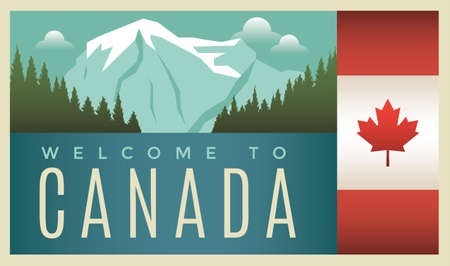 welcome to canada label design
