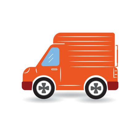 mode of transport: delivery truck Illustration