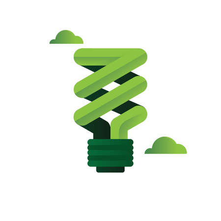 environmental awareness: Energy-saving light bulb